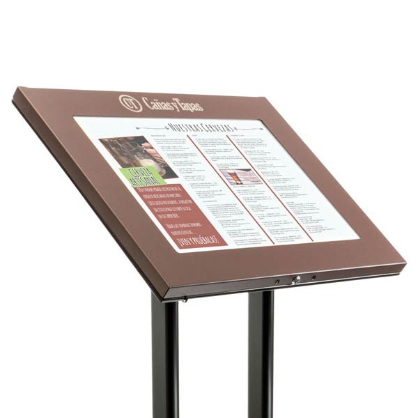 Porte menus pied portants menu muraux ext rieur for Porte menu exterieur restaurant